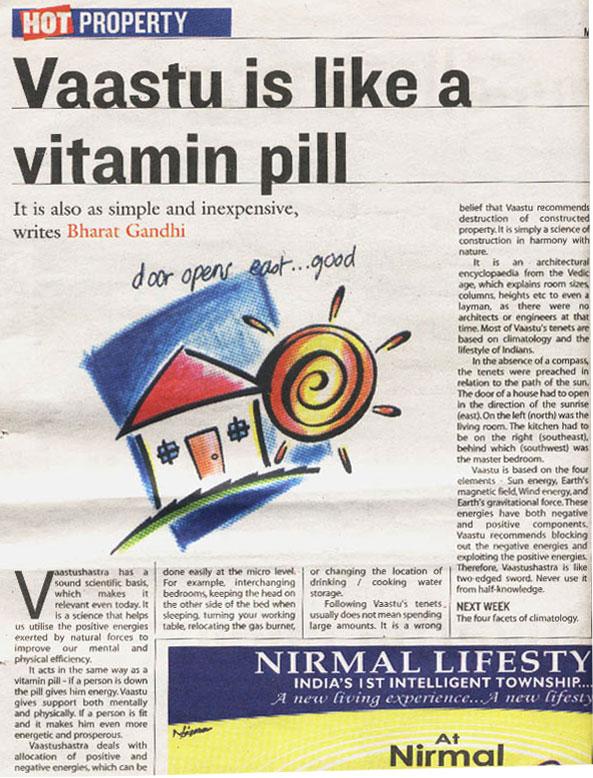 Vastu is like a vitamin pill
