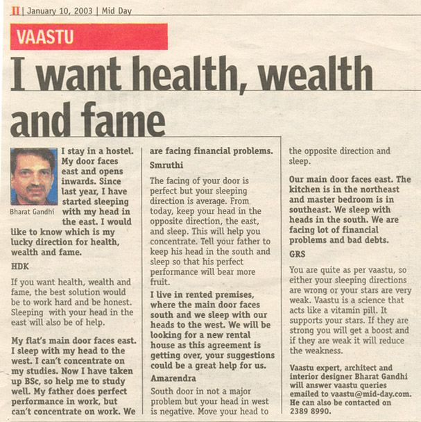 I Want Health, Wealth and Fame