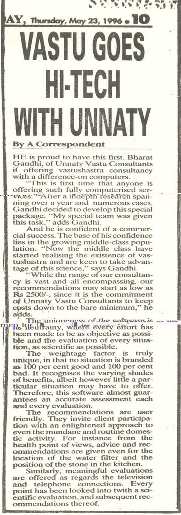Vastu Goes Hi Tech With Unnaty